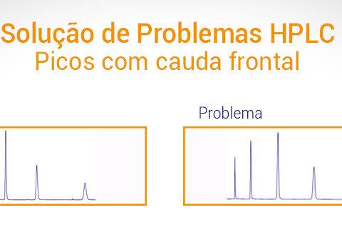 Picos HPLC com cauda frontal