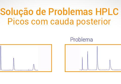 Picos HPLC com cauda posterior