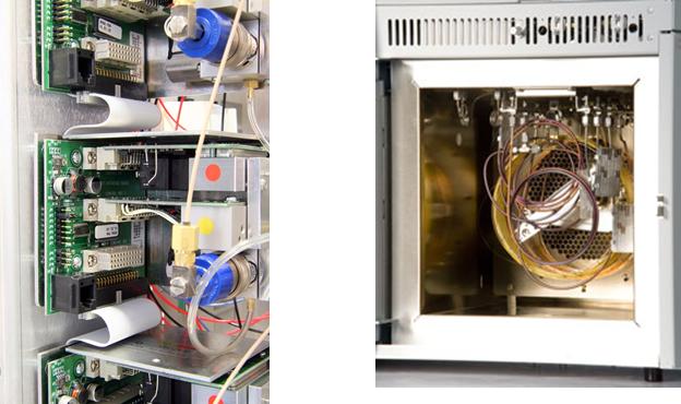 Componentes do Cromatógrafo Gasoso - CG Scion - Antigo Varian